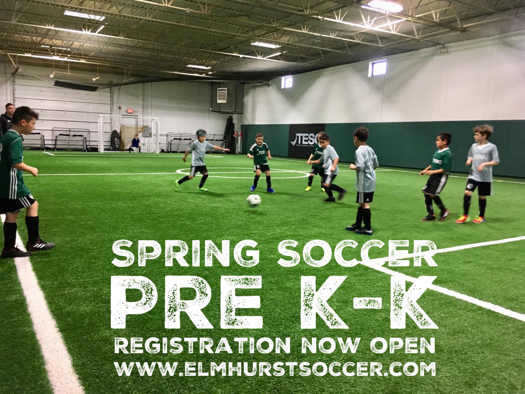 8cda4ebc294 Team Elmhurst Soccer Club Spring Skills School - Pre K - Kindergarten. Boys  and Girls