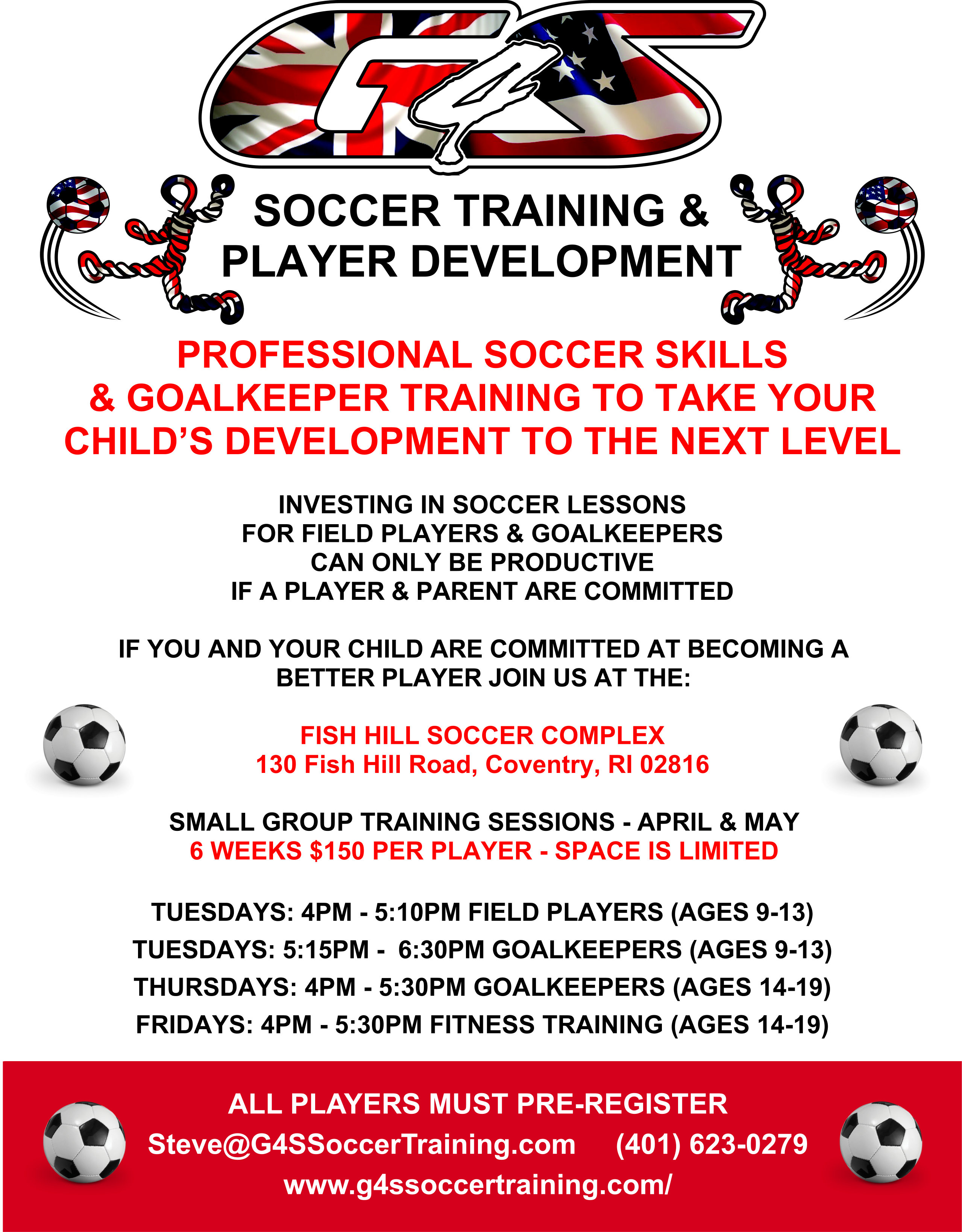 G4S Spring Soccer Training for Field Players & Goalkeepers