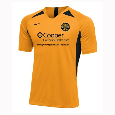 07a119abe57 Our uniform includes both a black home and a gold away jersey with your  child s   on it