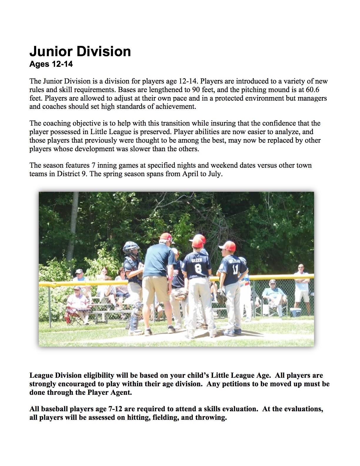 Baseball Division | Harry Swaun Little League