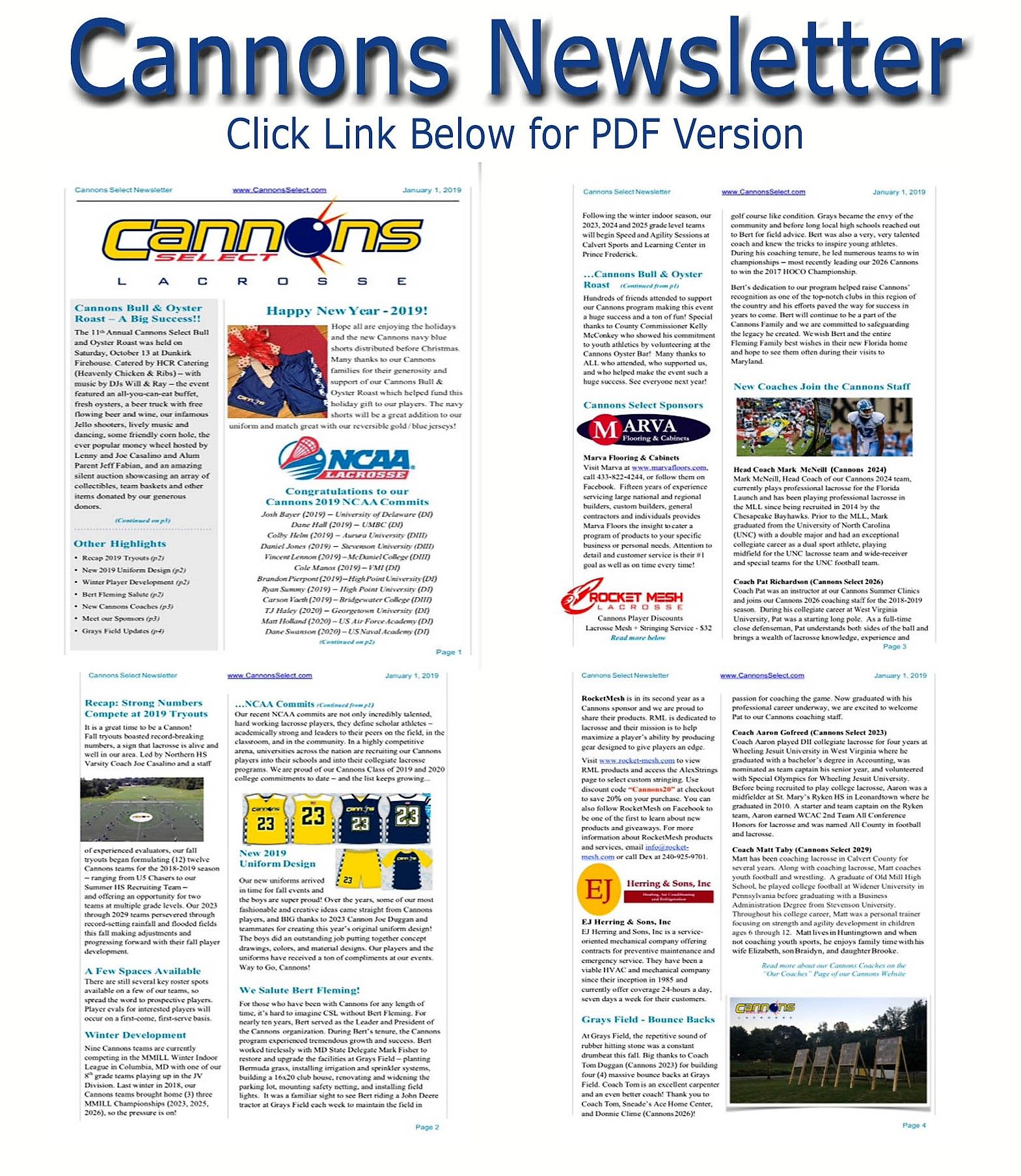 Cannons Select Lacrosse | News