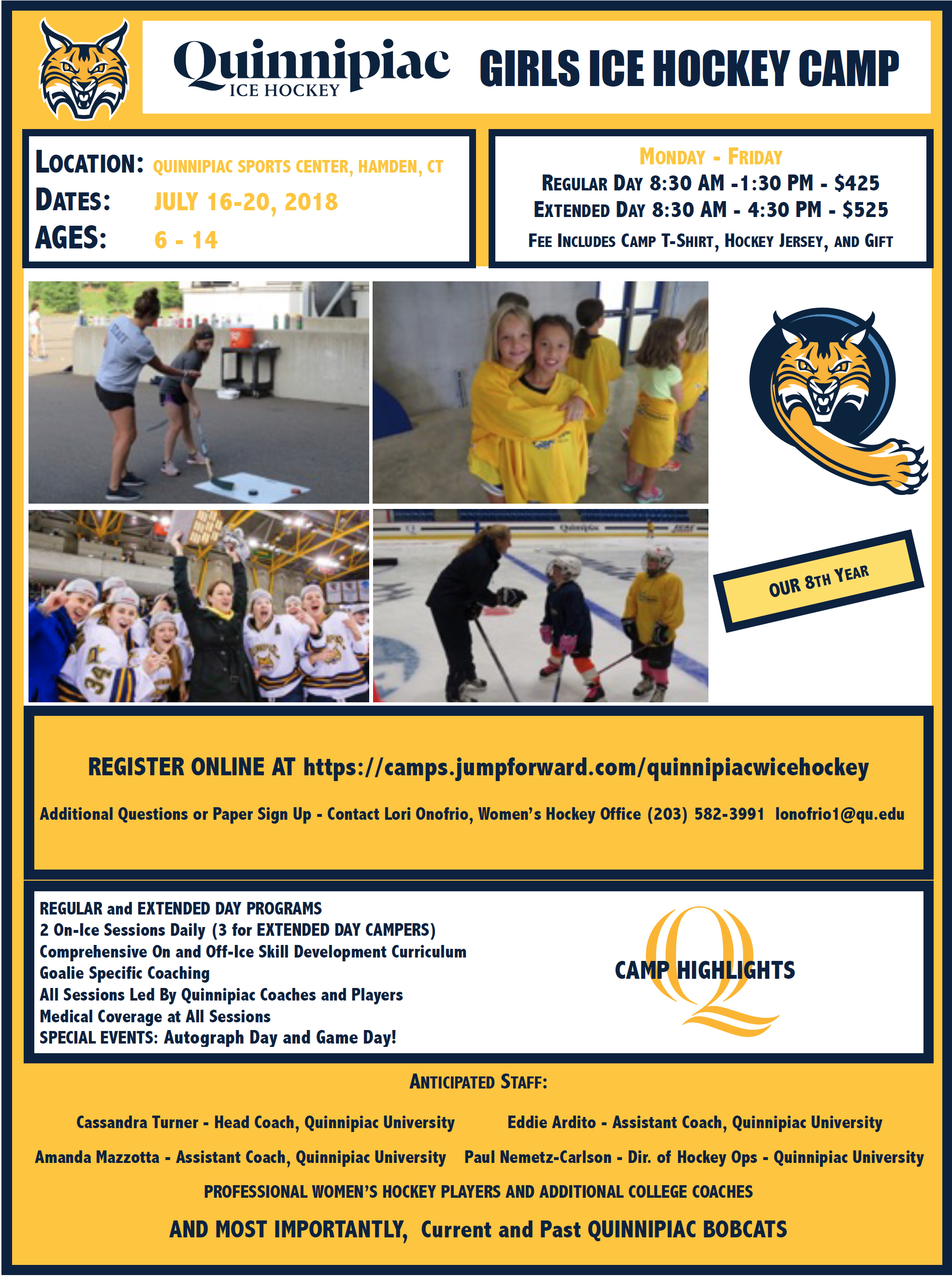 QU Girls Summer Hockey Camp 2018
