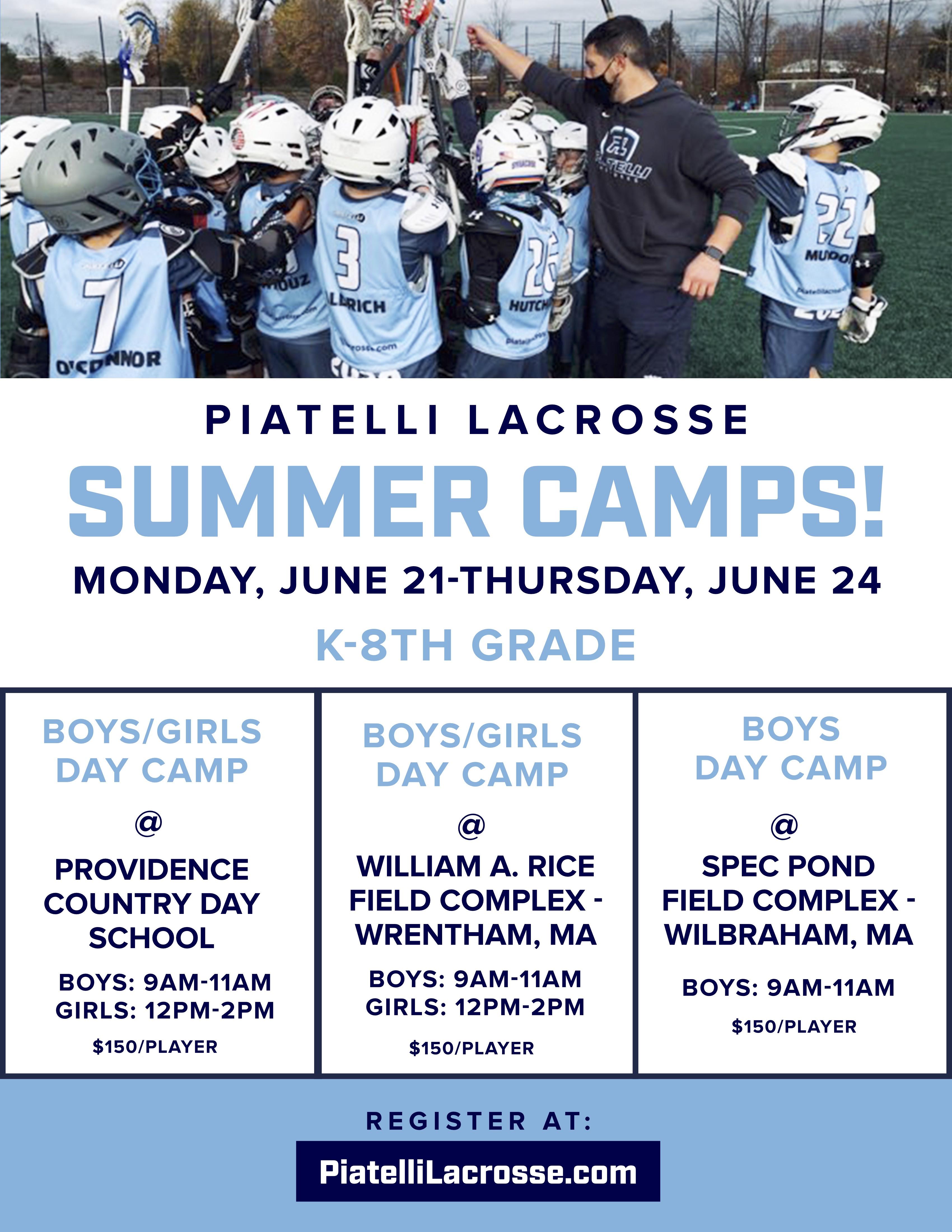 Piatelli Lacrosse Summer Camp