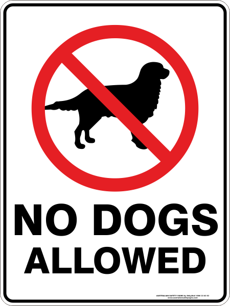 NO DOGS ALLOWED ON SCORe GROUNDS