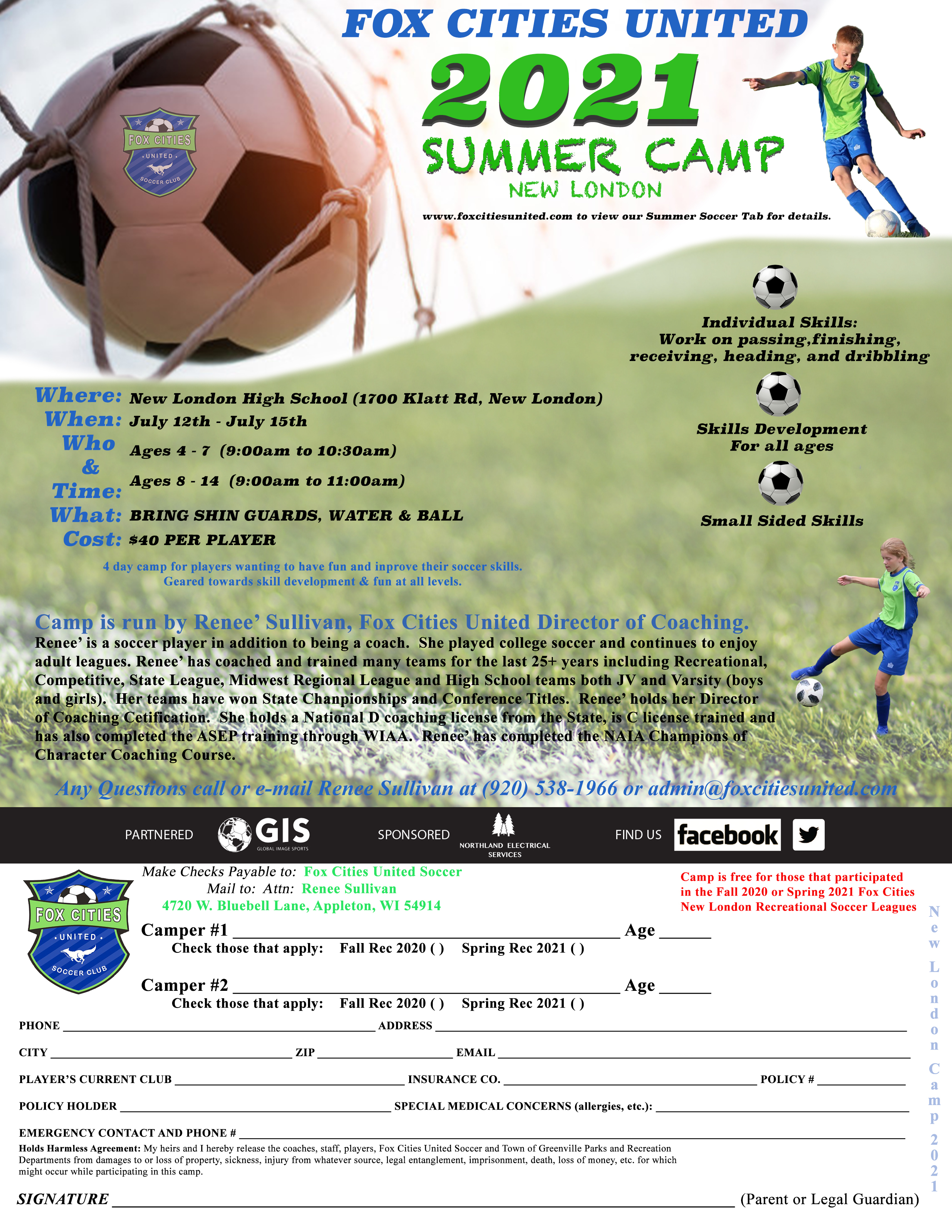 Soccer Summer Camp New London WI