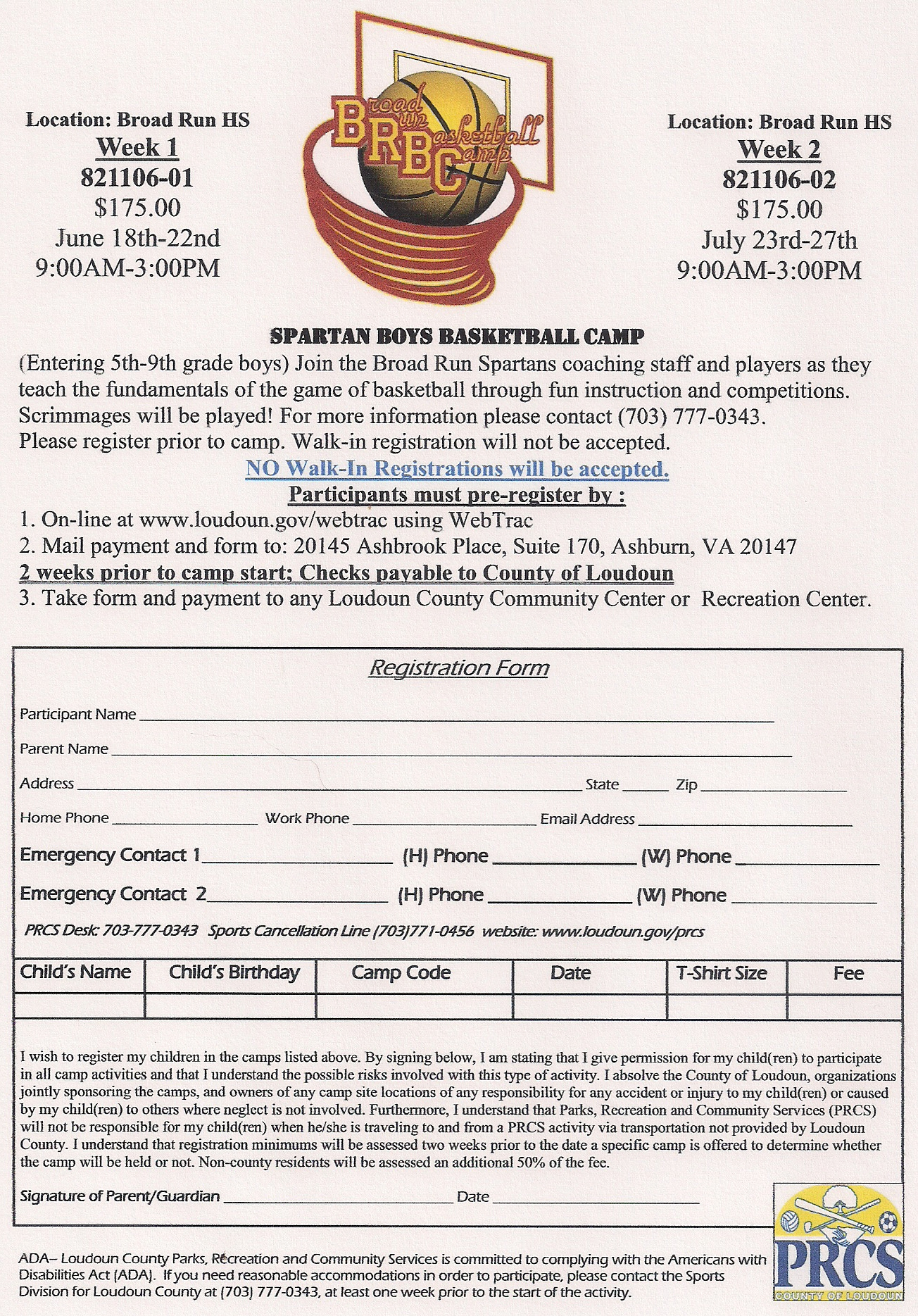 BRHS Basketball Camp
