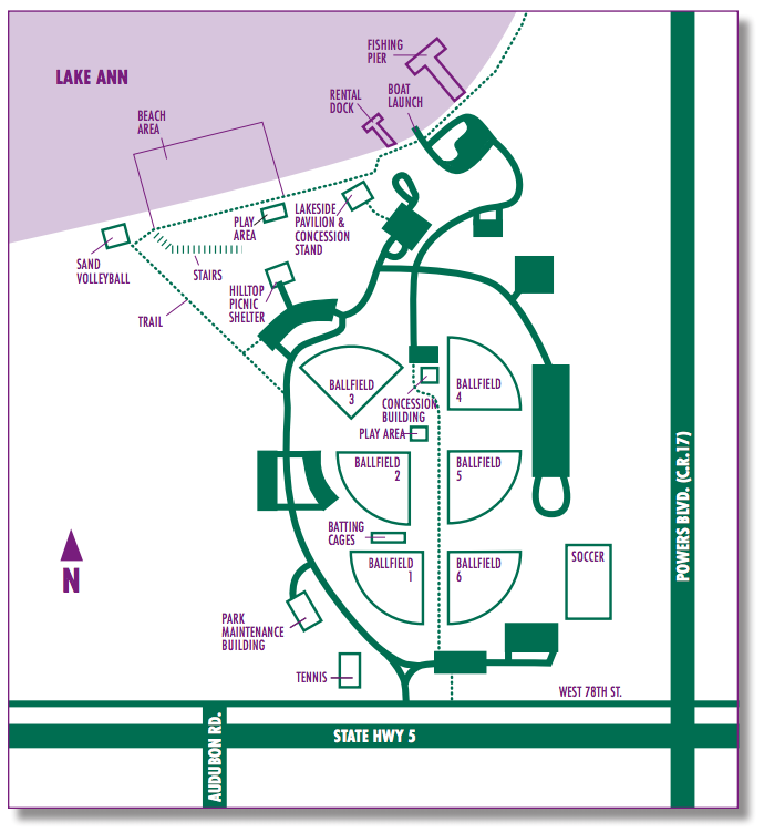 Lake Ann Park Map