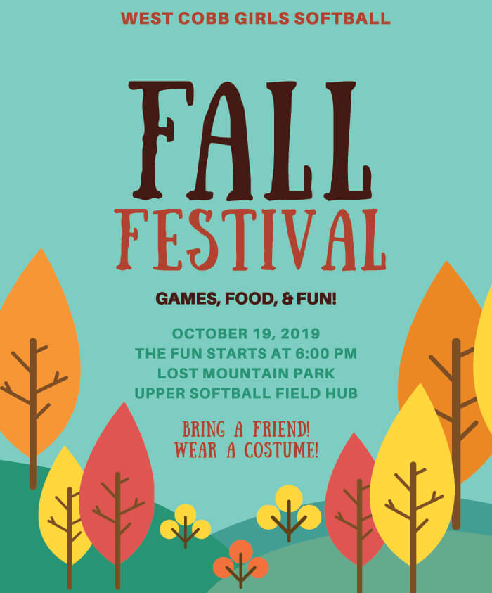 Fall Festival 2019 at West Cobb Girls Softball