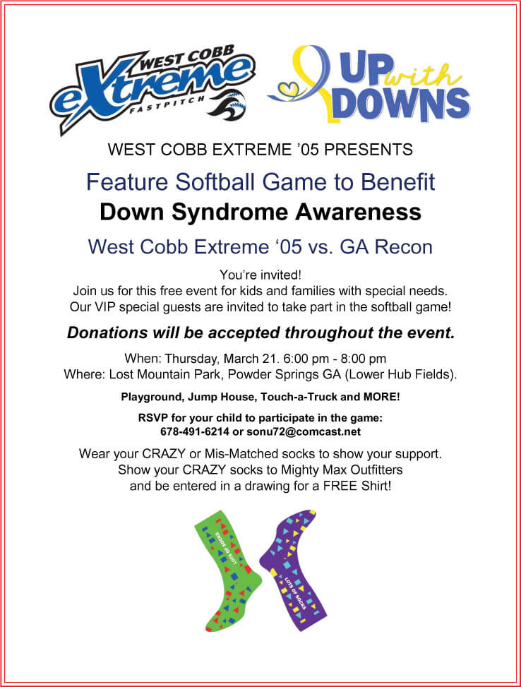Softball Game to Benefit Down Syndrome