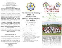 DEARBORN STARS 2013 SPRING BREAK CAMP