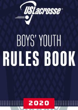 2020 Boys Youth Rules