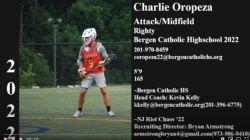 22' Midfielder Charlie Oropeza