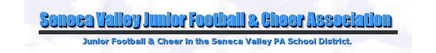 Seneca Valley Junior Football and Cheer Association , Football and Cheer, Touchdown, Field