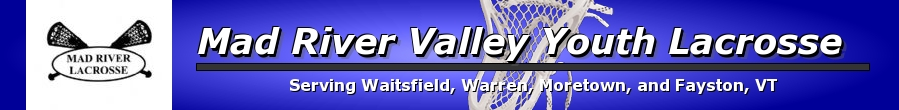 Mad River Valley Youth Lacrosse, Lacrosse, Goal, Field