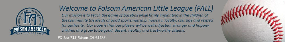 Folsom American Little League, Baseball, Run, Field