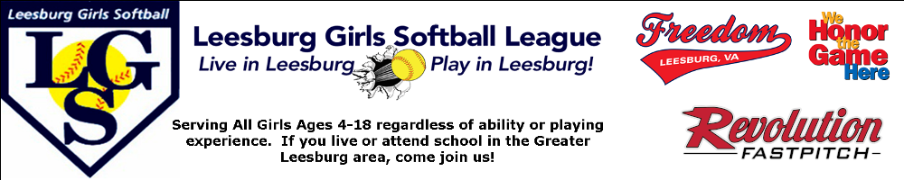 Leesburg Girls Softball League, Softball, Run, Field