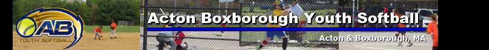 Acton Boxborough Youth Softball, Softball, Run, Field