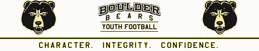 Boulder Bears Youth Football, Football/Cheerleading, Point, Field