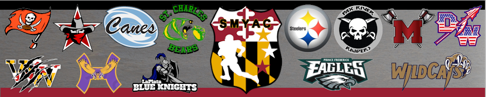 Southern Maryland Youth Athletic Conference, Football, Points, Field