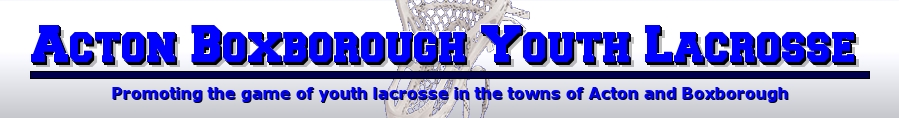 Acton Boxborough Youth Lacrosse, Lacrosse, Goal, Field