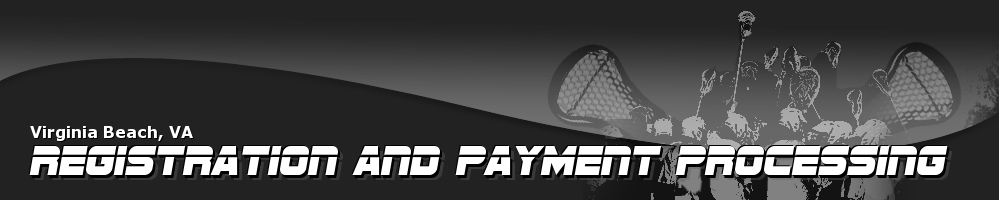 Registration and Payment Processing, Lacrosse, Goal, Field