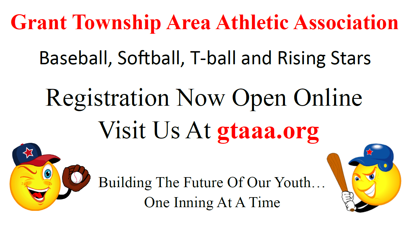 Grant Township Area Athletic Association, Baseball, Run, Field