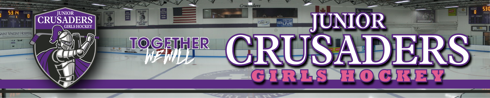 Junior Crusaders Girls Hockey, Hockey, Goal, Rink