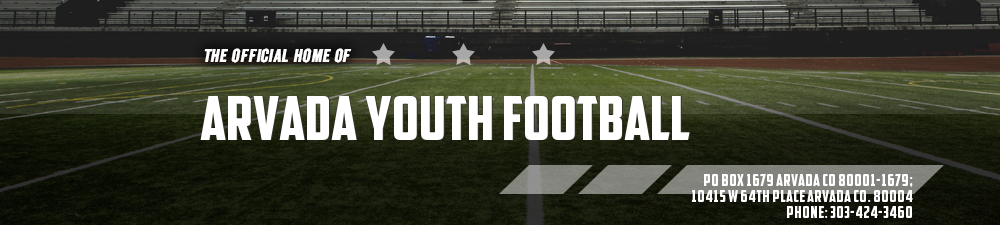 Arvada Youth Football Association 303-424-3460, Football, Points, Field