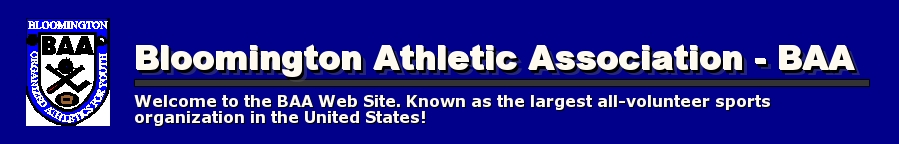 Bloomington Athletic Association - BAA, , Goals or Point, Locations / Map