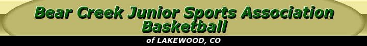 Bear Creek Junior Sports Association Basketball, Basketball, Point, Court
