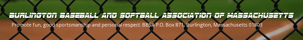 Burlington Baseball and Softball Association of Massachusetts, Baseball, Run, Field