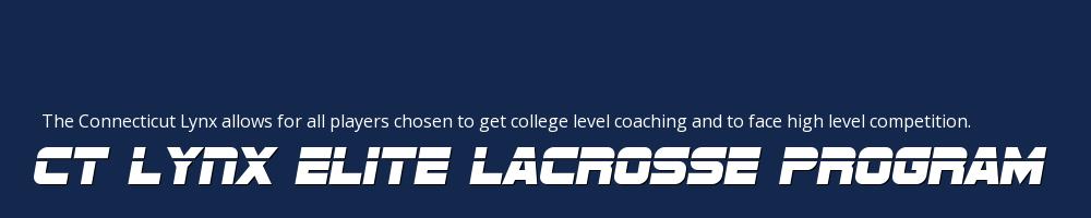 CT Lynx Elite Lacrosse Program, Lacrosse, Goal, Field