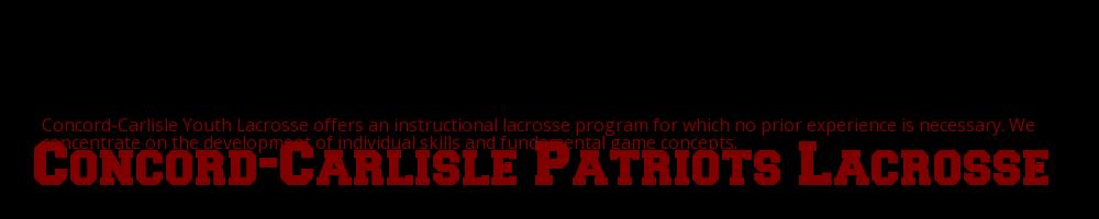 Concord-Carlisle Youth Lacrosse, Lacrosse, Goal, Field