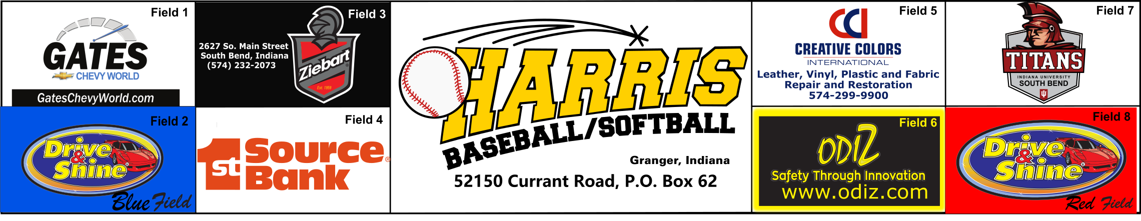Harris Baseball Softball, Inc., Baseball, Run, Field