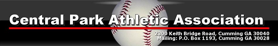 Central Park Athletic Association, Central Park Baseball and Softball, CPAA - FCPRD, Central Park Forsyth County GA