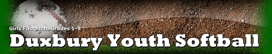 Duxbury Youth Softball, Softball, Run, Field