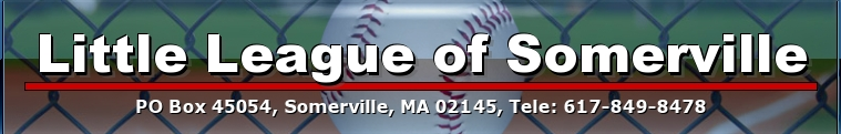 Little League of Somerville, Baseball & Softball, Run, Field