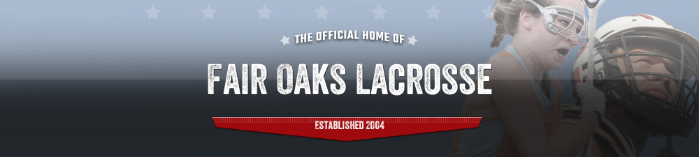 Fair Oaks Lacrosse Club, Lacrosse, Goal, Field