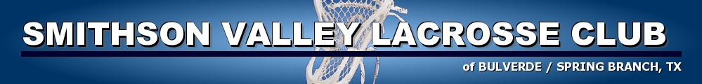 SMITHSON VALLEY LACROSSE, Lacrosse, Goal, Field