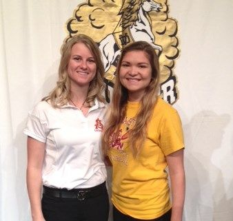 Ivy Richie and ASU Coach Stephanie Albee