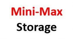 Mini-Max Storage