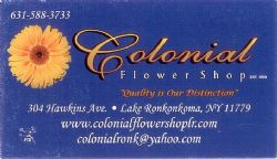 Colonial Flower Shop - (631) 588-3733