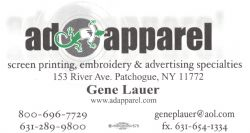ad apparel - (631) 289-9800