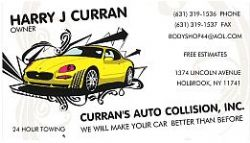 Curran's Auto Collision, Inc. - (631) 319-1536
