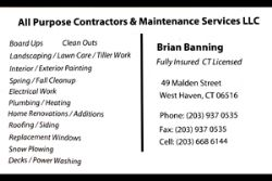 All Purpose Contractors & Maintenance Services LLC