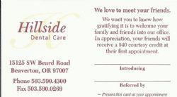 Hillside Dental Care