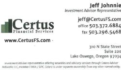 Jeff Johnnie, Certus Financial Services