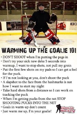 Warm Up The Goalies