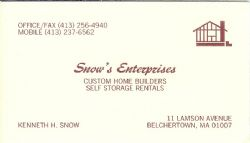 Snow's Self Storage Rentals