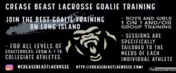 Crease Beast Lacrosse Goalie Training